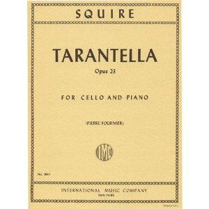 Squire, William Henry Tarantella Op. 23. For Cello and Piano. Edited by Fournier. by International