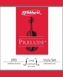 D'Addario Prelude Viola String Set, Medium Scale