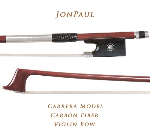 JonPaul Carrera Model Silver-Mounted Carbon Fiber 4/4 Violin Bow