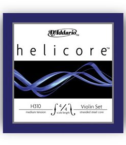 D'Addario Helicore 4/4 Violin Strings Set, Medium Gauge, w/Steel E String