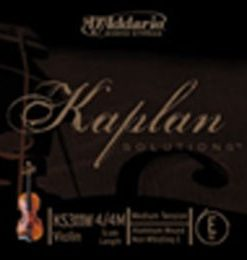 D'Addario Kaplan Solutions 4/4 Violin Non-Whistling E String, Medium