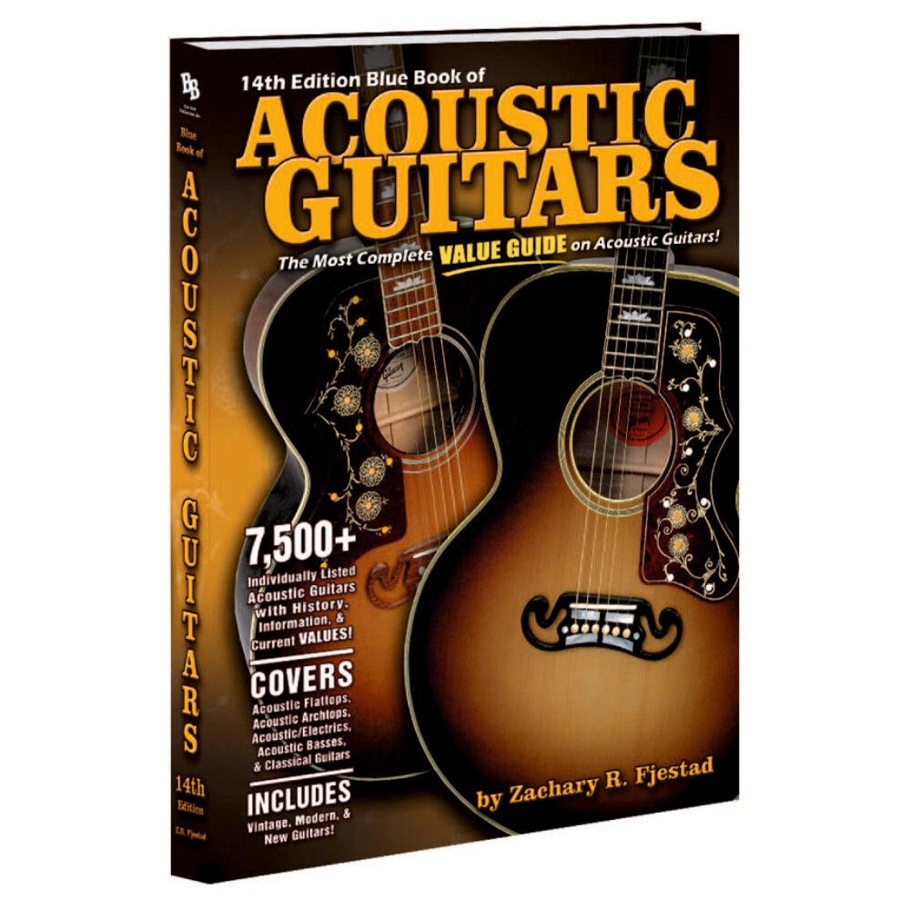 14th Edition Blue Book Of Acoustic Guitars Paperback Evergreen