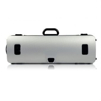 BAM France – Hightech Oblong Violin Case without Music Pocket – Metallic Silver – 2001XL_2