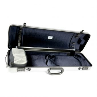 BAM France – Hightech Oblong Violin Case without Music Pocket – Metallic Silver – 2001XL_3