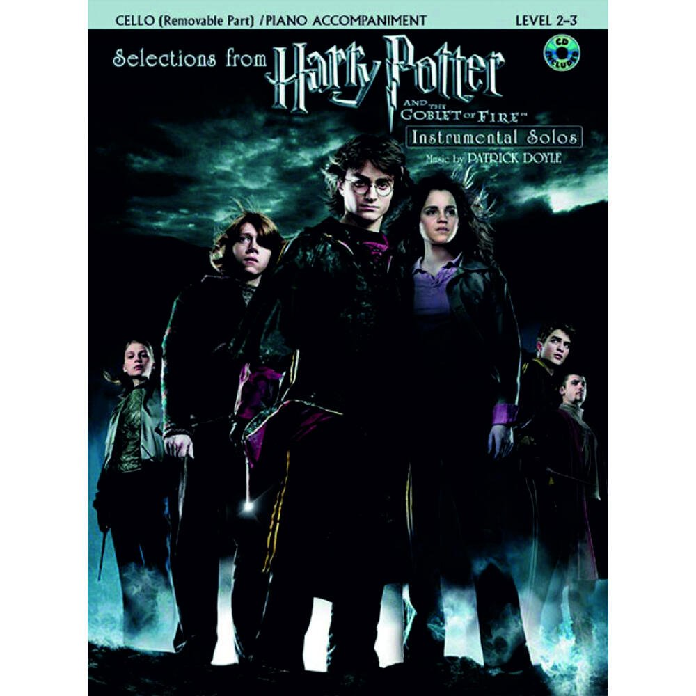 Selections from Harry Potter and the Goblet of Fire - Cello and Piano -  Book/CD set Alfred Music