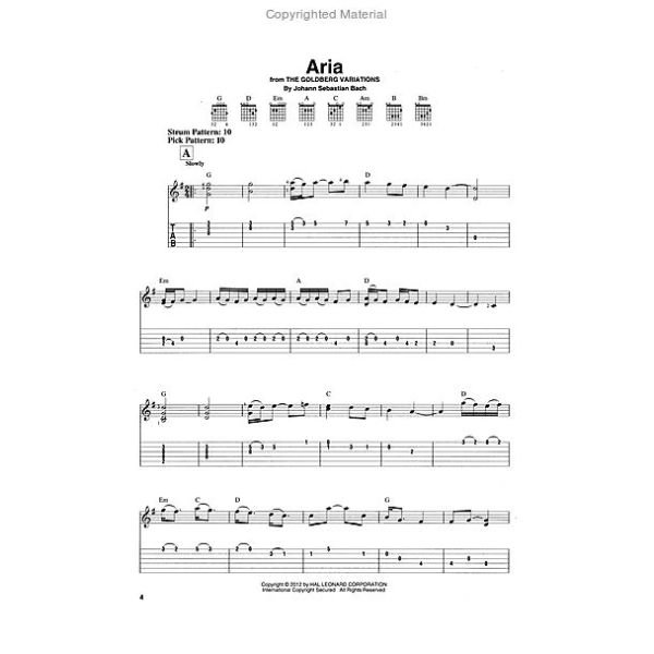 Hal Leonard J S  Bach For Easy Guitar With Tab