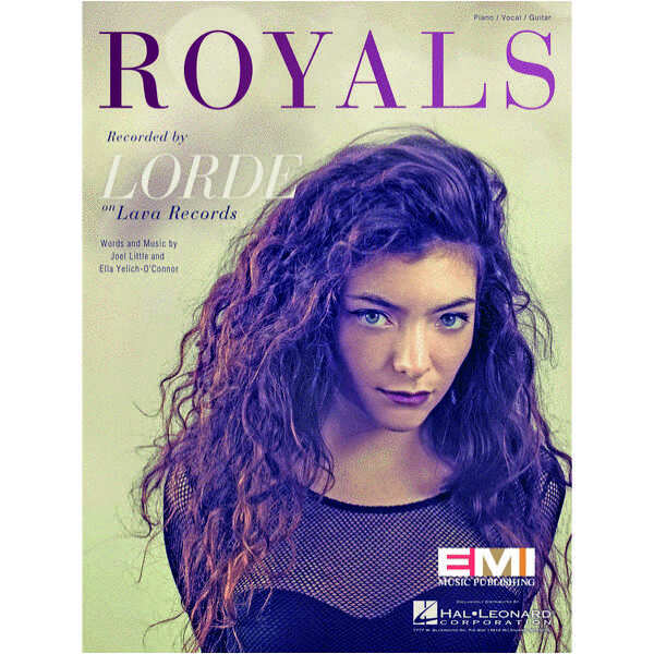 Lorde – Royals – Sheet Music Single – Evergreen Workshop