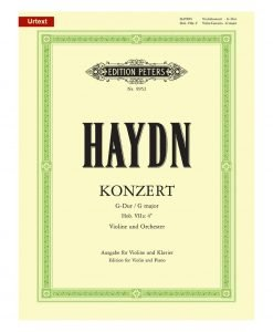Franz Haydn Concerto No 2 in G Major Violin and Orchestra Edition Peters 9952
