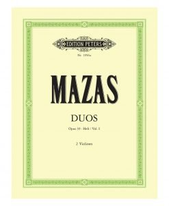 Mazas Duos Opus 39 Volume 1 Two Violins Edition Peters 1956a