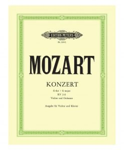 Mozart Konzert in G Major KV 216 Violin 2193
