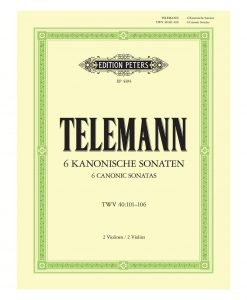Telemann 6 Canonic Sonatas Two Violinas Edition Peters Cover