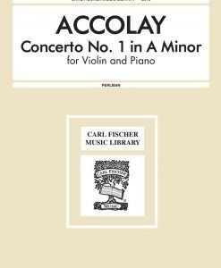 Accolay - Concerto No. 1 In A Minor for Violin and Piano - George Perlman - Carl Fischer