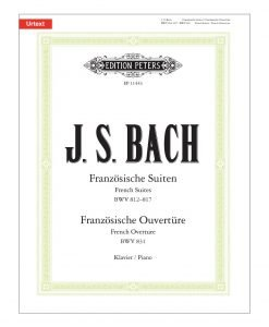 Bach French Suites-French Overture Piano Solo Edition Peters EP11443