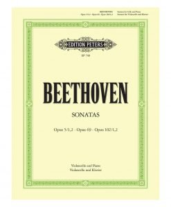 Beethoven Sonatas for Cello and Piano Edition Peters EP748