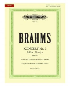 Brahms Piano Concerto 2 in B-flat Major Opus 83 Edition Peters 11407