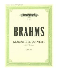 Brahms Quintet in B Minor Op 115 3905c Edition Peters