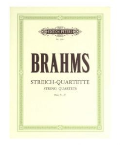 Brahms String Quartet Complete EP3903 Edition Peters