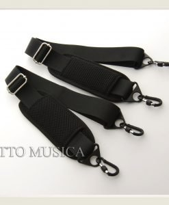 Otto Musica Mirage White Shaped Violin Case straps